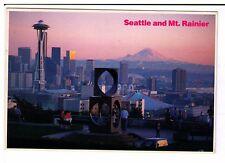 Postcard: Seattle and Mount Rainier, Washington, USA