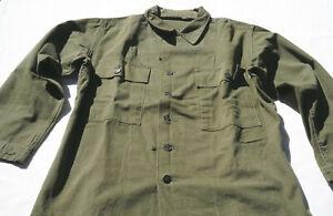 WW2 Korea Vietnam US GI HBT Shirt Field Jacket Blouse Combat WWII ARMY USMC 38R