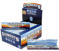 Elements Rolling Paper King Size Slim Ultra Thin Rice Paper Skin Full Box Blue