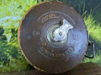 Vintage Leather - The Lufkin Rule Co. Challenge 50 ft Metallic Tape Measure