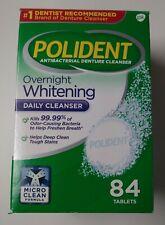 POLIDENT OVERNIGHT WHITENING ANTIBACTERIAL DENTURE CLEANSER 66 TABLETS EXP 3/21