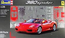 KIT REVELL 1:24 AUTO DA MONTARE FERRARI 360 SPIDER 18,5 CM, 65 PEZZI   07085