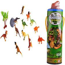 Lot 12pc Plastic Dinosaur Animal Tiny Model Action Figures Kids Toy Xmas Gift