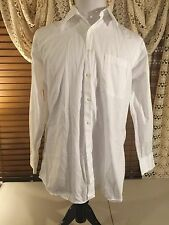 Mens IKE BEHAR New York Large L Dress Or Beach Walking White Cotton Shirt EUC