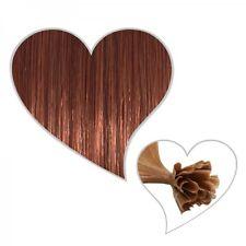25 Extensions Mahogany Brown #33, 75 cm, Premium Quality, Remy Human Hair 75cm