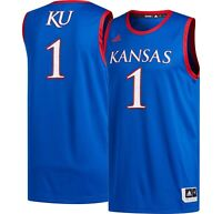 New Men's Adidas Kansas Jayhawks Creator Replica Basketball Jersey Large $80 #1