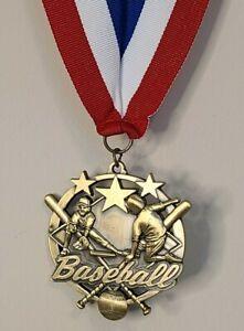 "Little League BASEBALL Award 2.5 Medallion 34"" Ribbon Participation Award Medal"