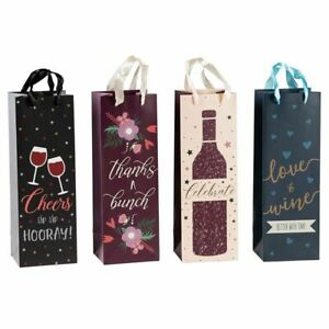 12 Pack Wine Bottle Gift Bags for Holidays Dinner Birthday Wedding Parties