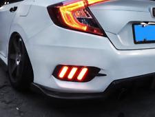 Red LED Rear Bumper Tail Brake Light Lamp For Honda Civic Sedan 2016-2018