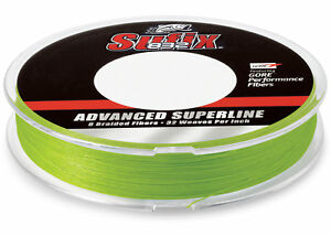 Sufix 832 Braid Fishing Line 600 Yds, 65 Lb., Neon Lime