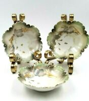 """3 RS Germany Porcelain Scalloped Berry Dessert Bowls 5"""""""