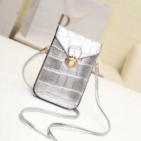Ladies PU Leather Mobile Phone Bag Pouch Cross Body Purse Small Shoulder Bags HO