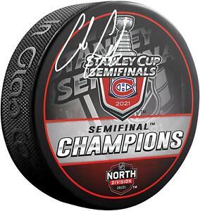 Autographed Cole Caufield Canadiens Puck Fanatics Authentic COA