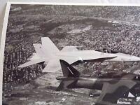 McDONNELL DOUGLASS CORPARATION PHOTO 1ST VERSION AV-8B HARRIER II & FA-18 HORNET