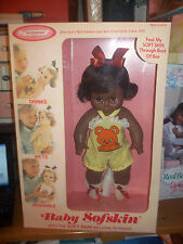 Horsman Baby Sofskin African American Girl Baby Pretty MIB Drinks Wets Washable