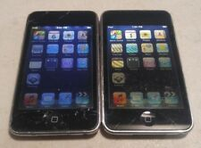 Lot of 2 Apple iPod Touch 2nd Gen A1288 8GB Black - STAINED LCD - FULL FUNCTIONS