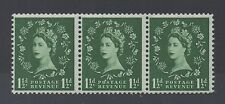 SG517. S25m. 1 1/2d green Flaw over O variety. Sideways coil. Unmounted mint.