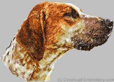 Embroidered Fleece Jacket - English Foxhound Dle1524 Sizes S - Xxl