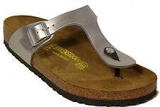 Birkenstock Gizeh Birko-flor Womens Shoes Slides Sandals Anatomical Footbed Silver EU 42 - UK M8 Regular