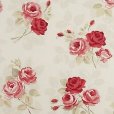 Clarke and Clarke Nancy Rouge Designer Curtain Upholstery Fabric