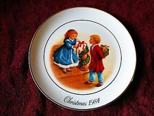 """Christmas 1984 """"Celebrating the Joy of Giving"""" Collector Plate Avon - 22k Gold"""