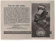 Pubblicità 1938 IKONTA BOB NETTAR ZEISS IKON FOTO PHOTO advert werbung publicitè