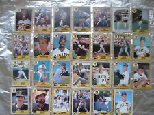 PIRATES Cards 5 TOPPS TEAM SETS 1986 1987 1988 1989 1990 BARRY BONDS ROOKIE