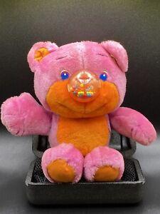 VTG 1987 Playskool Gumlet Nosy Bear Pink And Orange