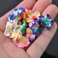 30pcs 20mm Big Flower Polymer Clay Loose Spacer Fimo Beads Random Mixed Color