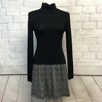 Theory Womens Stretchy Pullover Turtleneck A Line Dress Black S