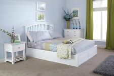 GFW Madrid White Ottoman Double Bed Frame