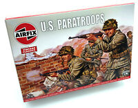 AIRFIX® 1:76 WW2 US PARATROOPS MODEL KIT SOLDIERS WORLD WAR II WWII SET A00751V