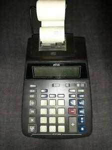 Ativa AT-P1000 Printing Calculator 2 Color Ribbon Print Display 12 Digit