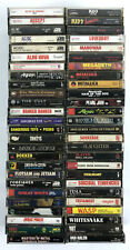 Lot 50+ Metal & Hair Cassette Tapes '90s - AC/DC Cult Metallica Manowar WASP #1
