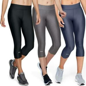 Under Armour HeatGear Armour Damen Capri Legging Tights Sporthose Trainingshose