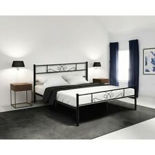 Full Size Metal Bed Frame Platform Bedroom Furniture Mattress Foundation Black