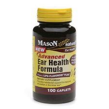 Mason Natural Advanced Ear Health Formula Caplets 100 ea (Pack of 2)