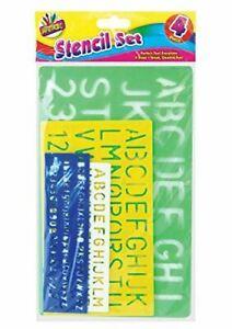 Artbox 4 Piece Size Stencil Set Letters Alphabet Craft Number Letter