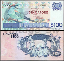 1977 SINGAPORE BIRD $100.00 HSS W/SEAL A/13 974468 P-14 gEF
