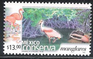pc128 Mexico Conserva MNH paper 3 Sc#2432 Mc#3118C Et#mc128 mangroves