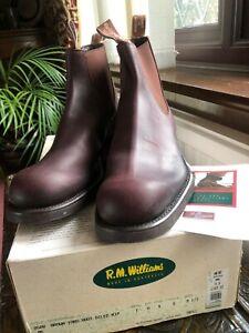 New RM Williams Comfort Craftsman Yard Boot 9.5 Chestnut Brown