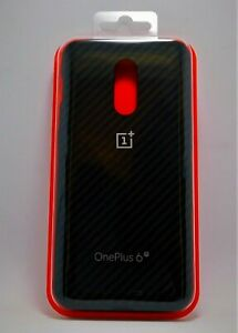 #1097  OnePlus 6T  - Vader Karbon Bumper Case in Black  (Carbon Fiber Design)