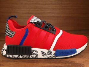 Adidas NMD R1 Shoes Transmission Pack Active Red Blue Black FV5214 Men Size 9.5