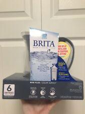 Brita Water Filter Mini Plus Color Series 6 Cup Pitcher Slate Blue New