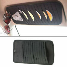 Car Interior Black Sun Visor 12 Disc Slots DVD Folder Bag Holder Non-woven Clip