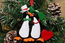 ALBERO di Natale personalizzata Decorazione Ornamento Penguin Famiglia di 2