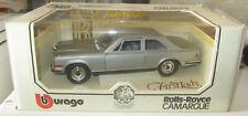 BBURAGO 1:18 Rolls Royce Camargue First Lady DIAMONDS Die Cast Car Made in Italy