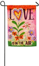 Love Is In The Air - Garden Flag 12.5in x 18in Evergreen New #14S4092