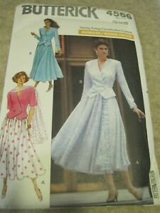 BUTTERICK 4566 MISSES' TOP SKIRT SCARF Sewing Pattern 12-14-16 1990 UNCUT VTG