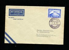 Zeppelin Sieger 132Ab 1931 Meiningen Flight Bordpost